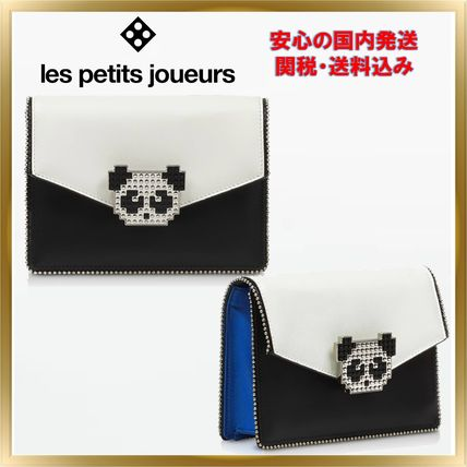 Unisex 2WAY Plain Leather Party Style Clutches