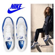Nike AIR MAX 1 Casual Style Unisex Suede Blended Fabrics Street Style