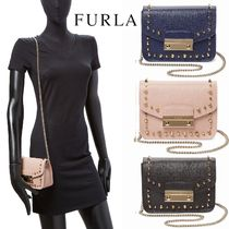 FURLA FURLA Julia Mini Stud Crossbody  Shoulder Bags