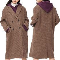 8SECONDS Casual Style Wool Studded Long Duffle Coats