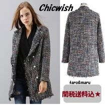 Chicwish Casual Style Tweed Medium Chester Coats