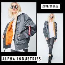 ALPHA INDUSTRIES Short Unisex Street Style Plain MA-1 Bomber Jackets