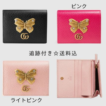 9efd9c8eabcb ... GUCCI Folding Wallets Blended Fabrics Studded Plain Other Animal  Patterns Leather ...