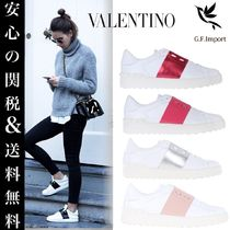 VALENTINO Casual Style Plain Leather Low-Top Sneakers
