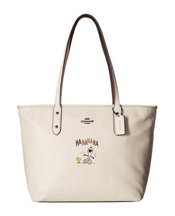 White Peanuts Snoopy x COACH City Zip Tote Bag