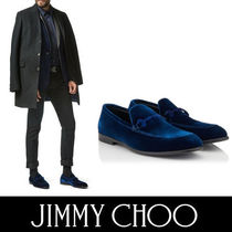 Jimmy Choo Plain Toe Loafers Velvet Plain Loafers & Slip-ons