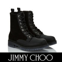 Jimmy Choo Plain Toe Mountain Boots Blended Fabrics Street Style Plain