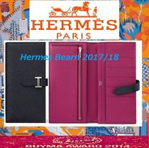 HERMES Bearn Calfskin Long Wallets
