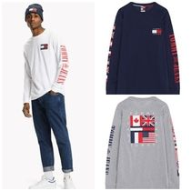 Tommy Hilfiger Street Style Long Sleeves Cotton T-Shirts