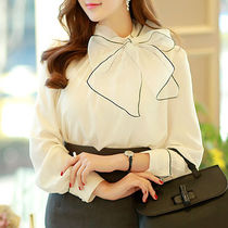 Chiffon Long Sleeves Plain Medium Elegant Style