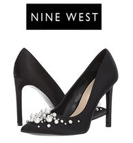 Nine West Plain Party Style With Jewels High Heel Pumps & Mules