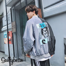 Street Style Bi-color MA-1 Bomber Jackets