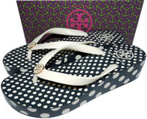 Tory Burch Dots Casual Style Flip Flops Platform & Wedge Sandals