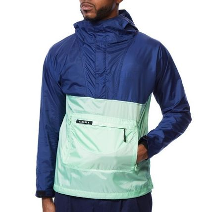 Short Street Style Plain Windbreaker Jackets