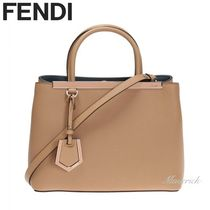 FENDI 2 JOURS 2Jours Petite Shopper Bag / Camel Brown