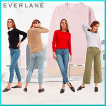 Everlane Crew Neck Casual Style Cashmere Long Sleeves Plain Cashmere