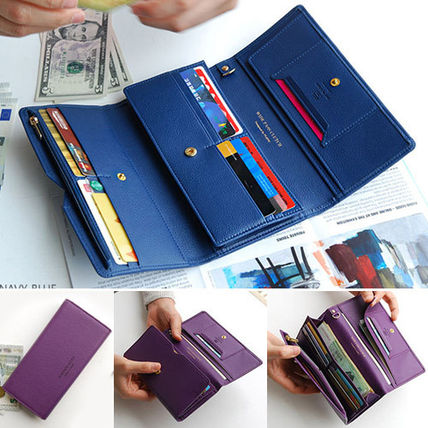 Unisex Plain Long Wallets