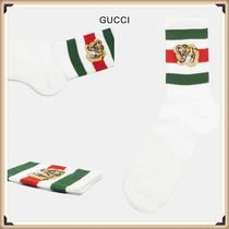 GUCCI Stripes Street Style Cotton Socks & Tights