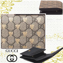 GUCCI Other Animal Patterns Folding Wallets