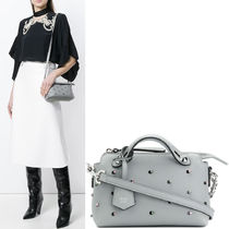 FENDI BY THE WAY By The Way Mini Shoulder Bag With Embellishment / Ice Blue