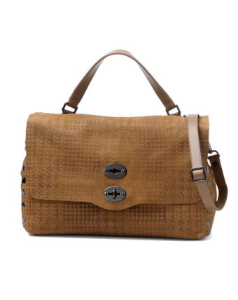 Zigzag Suede A4 Bags