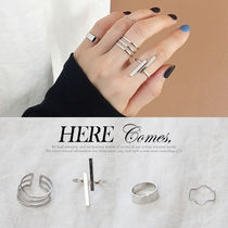 NANING9 Casual Style Silver Rings