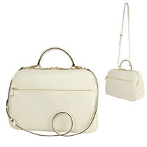 Valextra Casual Style Plain Leather Shoulder Bags