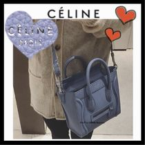 CELINE Luggage Calfskin 2WAY Plain Elegant Style Shoulder Bags