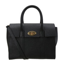 Mulberry Bayswater 2WAY Plain Leather Elegant Style Shoulder Bags