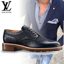 Louis Vuitton Wing Tip Leather Oxfords