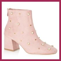 Lipsy Studded Block Heels Party Style Ankle & Booties Boots