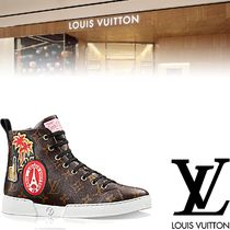 Louis Vuitton Monoglam Rubber Sole Casual Style Leather Low-Top Sneakers