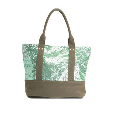 Canvas Bi-color With Jewels Totes