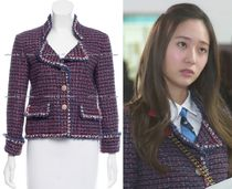 CHANEL TIMELESS CLASSICS CHANEL Blue Red Lesage Tweed Jacket F36 F38