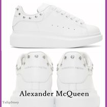 alexander mcqueen Studded Plain Leather Low-Top Sneakers