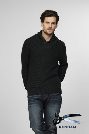 Pullovers Street Style Long Sleeves Plain Knits & Sweaters