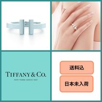 Tiffany & Co Tiffany T Casual Style Unisex Initial Silver Rings
