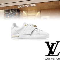 Louis Vuitton Rubber Sole Casual Style Plain Leather Low-Top Sneakers