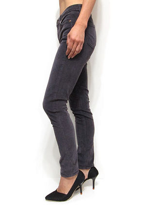 Casual Style Corduroy Plain Long Skinny Pants