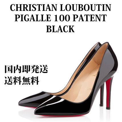 huge selection of bacff a3a2e Christian Louboutin Pigalle Follies 2019 SS Plain Leather Pin Heels Pointed  Toe Pumps & Mules