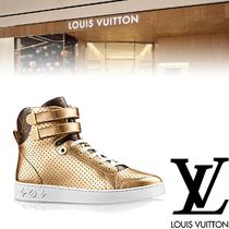 Louis Vuitton Rubber Sole Casual Style Leather Low-Top Sneakers