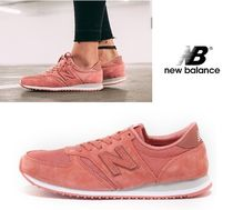 New Balance 420 Rubber Sole Casual Style Suede Street Style Plain