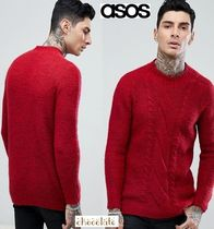 ASOS Cable Knit Wool Street Style Long Sleeves Plain