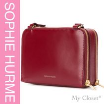 SOPHIE HULME Casual Style Street Style Plain Leather Bold Shoulder Bags