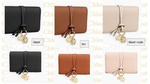 Chloe Lambskin Plain Folding Wallets