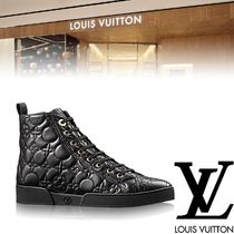 Louis Vuitton Monoglam Rubber Sole Leather Elegant Style Low-Top Sneakers