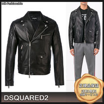 D SQUARED2 Leather Biker Jackets