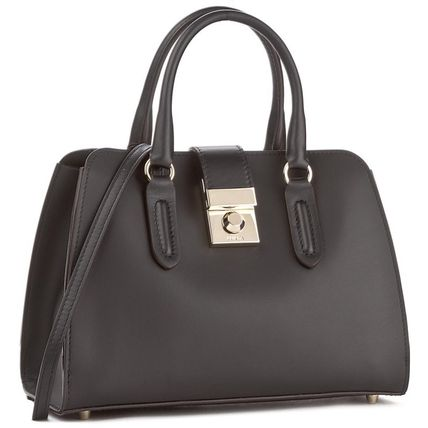 Furla Handbags Casual Style 2way Plain Leather