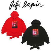 FIFI LAPIN Street Style Long Sleeves Cotton Long Oversized