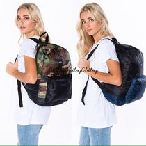 HUF Camouflage Casual Style Unisex Street Style A4 Backpacks